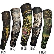 Поддельные татуировки рука рукав прямой стиль мода дизайн унисекс УФ Защита 1 шт. общий открытый временный