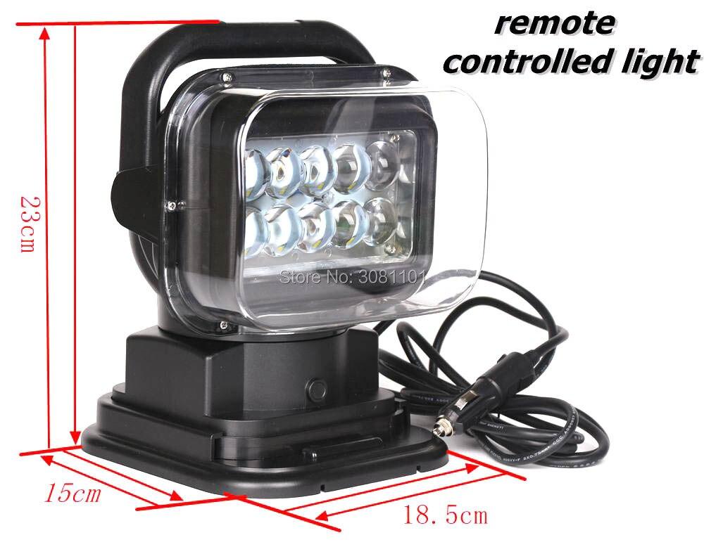 5Вт*10 светодиодов автомобиль-стайлинг внедорожник пульт дистанционного управления 360 градусов беспроводной свет работы Люмена водоустойчивые для Jeep/джип Команч 1986-1992 МДж