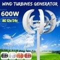 Max 600 W AC 12 V 24 V turbina eólica generador linterna 5 cuchillas Motor Kit eje Vertical