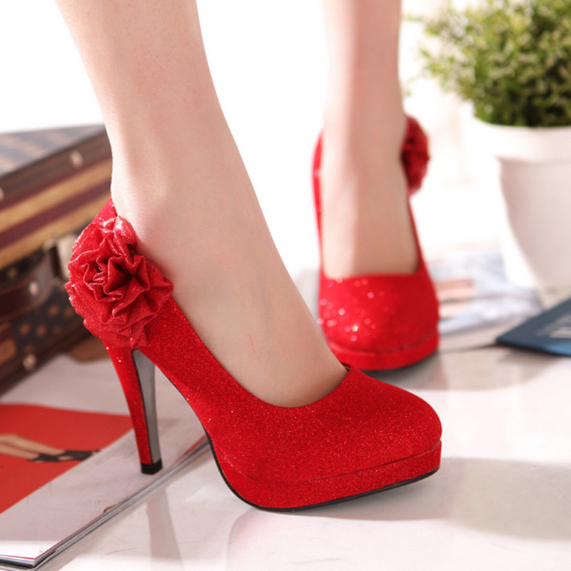 Wedding Shoes Bridal Red Gold Bridesmaid High Heeled In Women S Pumps From On Aliexpress Alibaba Group