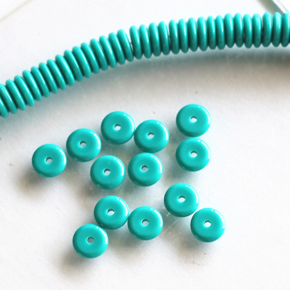 Sky Blue resin amber Hot Selling charms Wholesale/retail 6X2mm 8X2mm abacus Spacer beads loose beads 15 inches B94