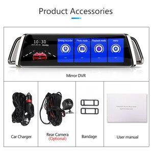 Image 5 - Flux rétroviseur voiture Dvr tableau de bord caméra avtoenregistrateur 10 IPS écran tactile Full HD 1080P voiture Dvr tableau de bord caméra Vision nocturne