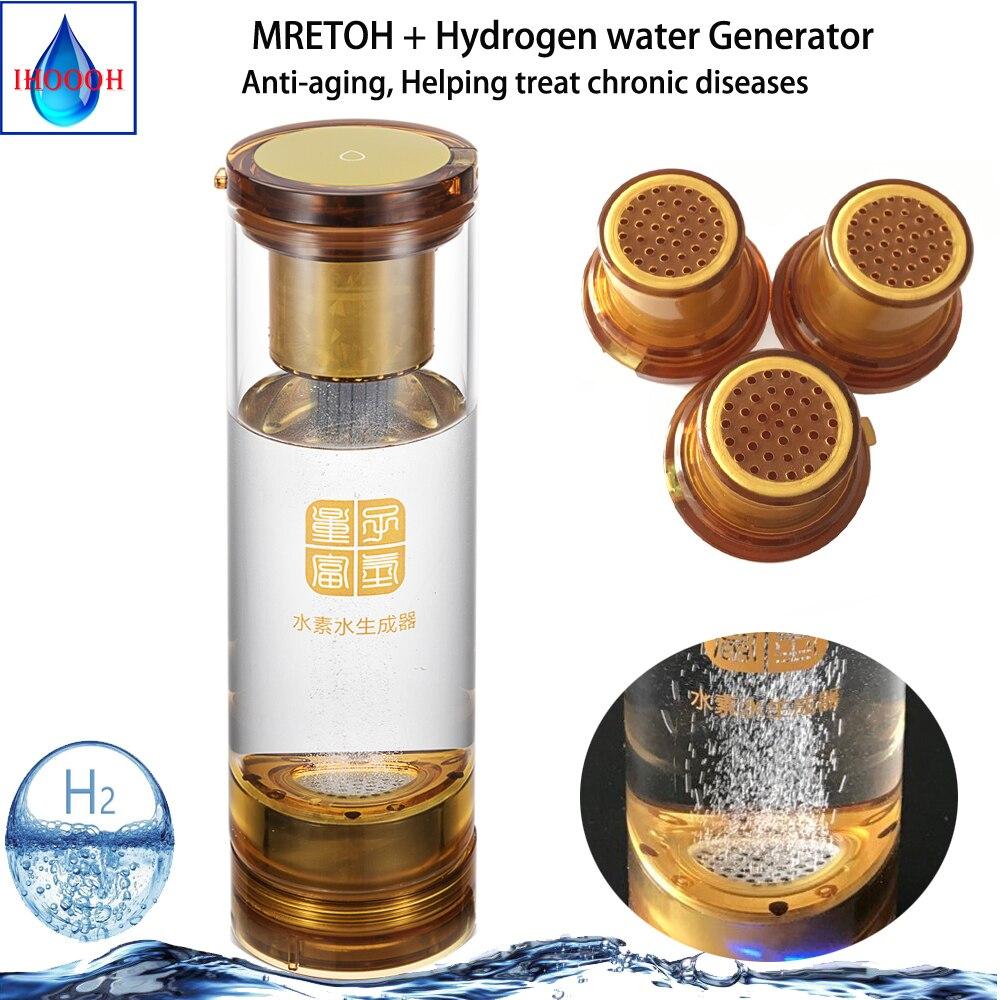 Générateur d'hydrogène riche à Transmission sans fil, technologie à effet de résonance moléculaire MRETO, verre d'eau H2, Rechargeable par USB