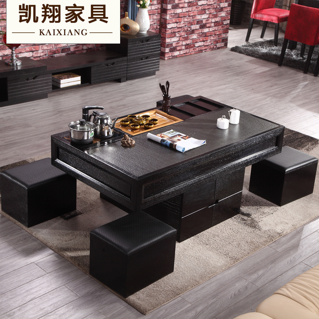 Fire Stone Coffee Table Tea With Stool Office Heightening Marble Tables And Chairs Combination Teasideend