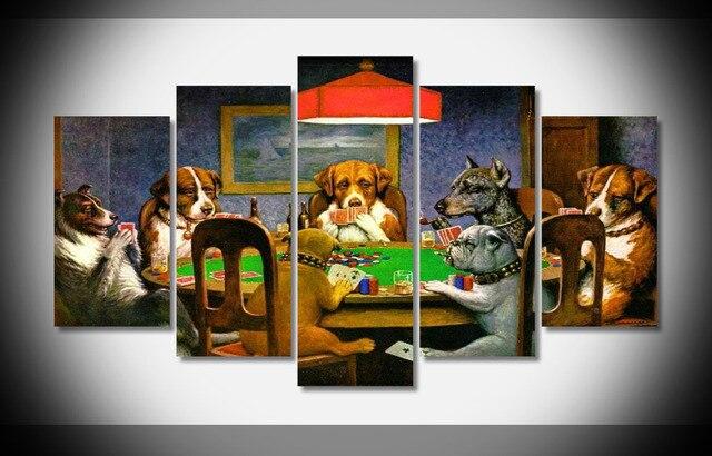 8020 Perros Jugando Poker Cheat Animales Humor Diversion Decoracion
