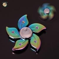 2017 Fidget Spinner Rainbow Star Hand Spinner Colorful Alloy Five Leaves Flower Fingertips Spiral Metal DEC