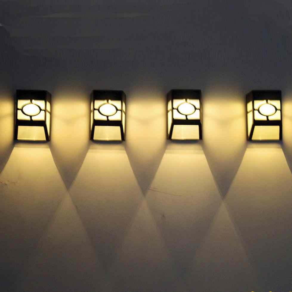 100% Бренд новый Высокое качество стены Солнечный свет лампы 2 светодиодный открытый сад стены дворовая дорожка ландшафтное освещение Холодный белый Теплый белый