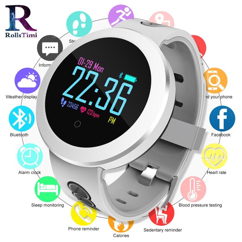 Las mujeres deporte relojes inteligente rastreador de Fitness pulsera hombres electrónica reloj inteligente sangre Pressura Monitor Smartwach para Android IOS