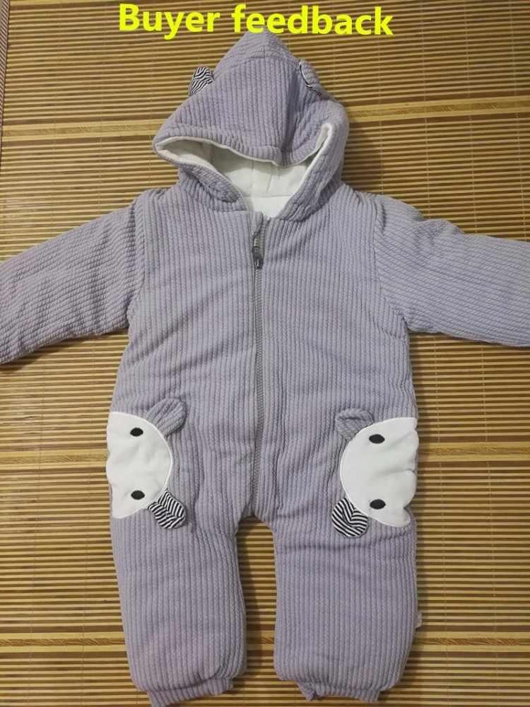 2020 neugeborenen Baumwolle Dicke weiche Mit Kapuze Baby mädchen Kleidung Warme Herbst Winter Tier kleinkind jungen infant overalls kleidung