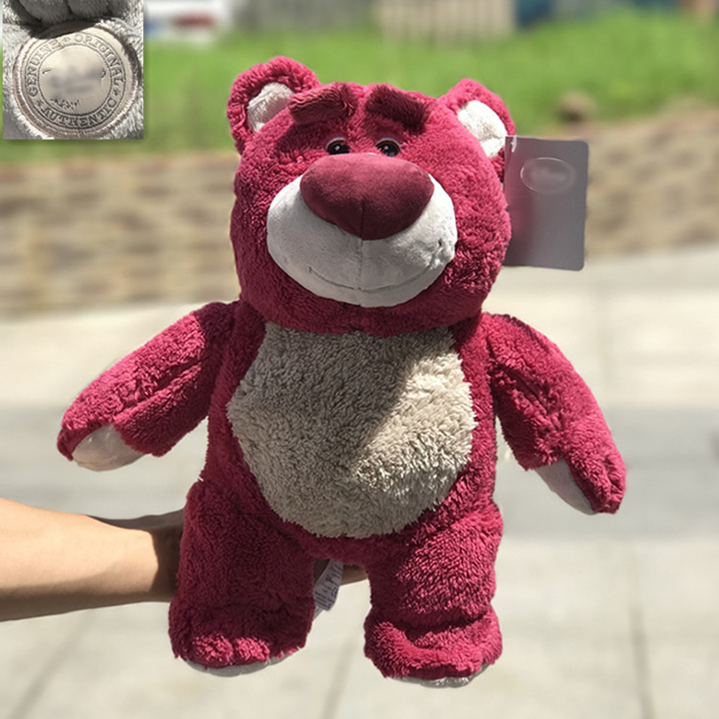 Free Shipping 34cm=13.3'' Original Toy Story 3 Lotso Hugging Bear Stuffed Strawberry Bear Soft Toys For Children Kids Gift