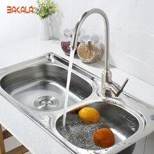 Bakala смеситель для кухни матовый никель одной стороны кухонный кран смеситель латунь мгновенный кран горячей воды sw-0957n