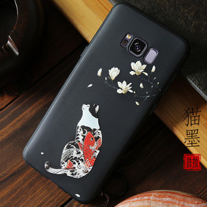 Image 4 - Great Emboss Phone case For samsung galaxy note 9 s9 plus cover Kanagawa Waves Carp Cranes 3D Giant relief case