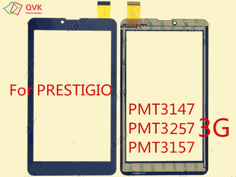 Czarny 7 cal dla PRESTIGIO GRACE WIZE PMT 3147 1177 3437 3537 3637 3257 3157 3G 4G pojemnościowy panel z ekranem dotykowym naprawa