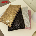 KEENICI Woman Evening Bag Women Bag Sequin Package Day Clutch Wedding Purse Party Banquet Black/gold Silver
