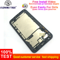 For ASUS ZenFone 2 Laser ZE550KL Z00LD Touch Screen Digitizer Sensor Glass + LCD Display Monitor Panel Assembly with Frame