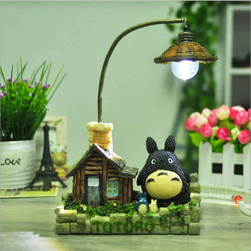 Cartoon Totoro Resin Night Light Children Luminaria Night Lamp Lamps Lights Child Nightlight LED Lights Children's Room C6FD9