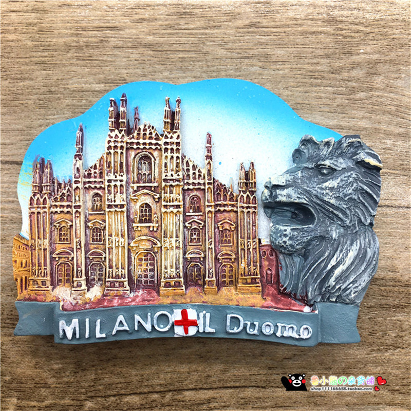 New HOT Italia Milano Refrigerator Magnetic Sticker Italy Milan Cathedral Fridge Magnets Tourist Souvenirs Home Decoration