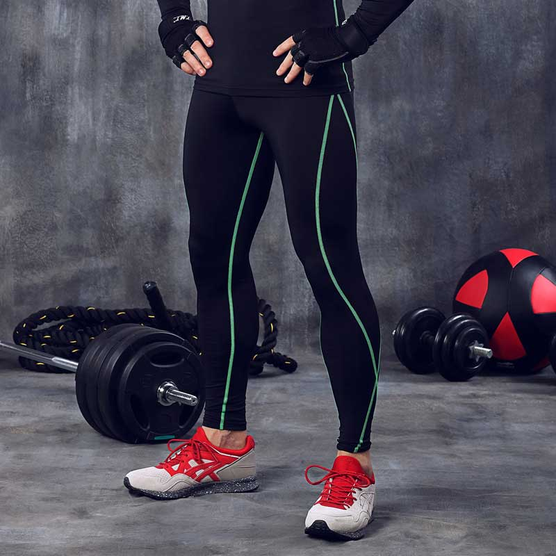 Men Pro Compress Quick Dry Pants Workout GYM Exercise Fitness Bodybuilding Leggings Basketball Sport Yoga Running Tights MA34