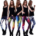 High sales S-XXL new ladies fashion sexy starry sky digital print colorful Carry buttock  high quality slim leggings