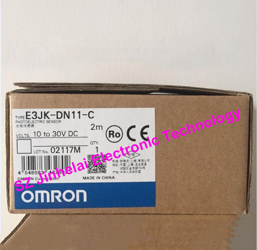 New and original OMRON  PHOTOELECTRIC SWITCH  E3JK-DN11-C  2M 10-30VDC [zob] new original authentic omron omron photoelectric switch e3s cl2 2m
