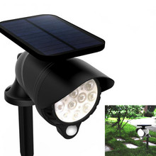 Solar Powered Lamp LED Outdoor Lamps PIR Motion Sensor Panel Night Security Wall Light Garden 3 Mode Changing