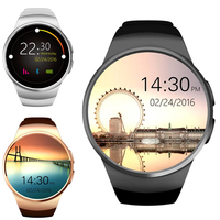 KW18 Smartwatch 1.3inch BT4.0 Heart Rate Monitor Watch Round Dial Phone MTK2502 IPS Screen Pedometer Sedentary Reminder