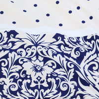 Free Ship 100 Cotton 235cm WideBlue And White Stripes Print Fabric For Dress Price For 1