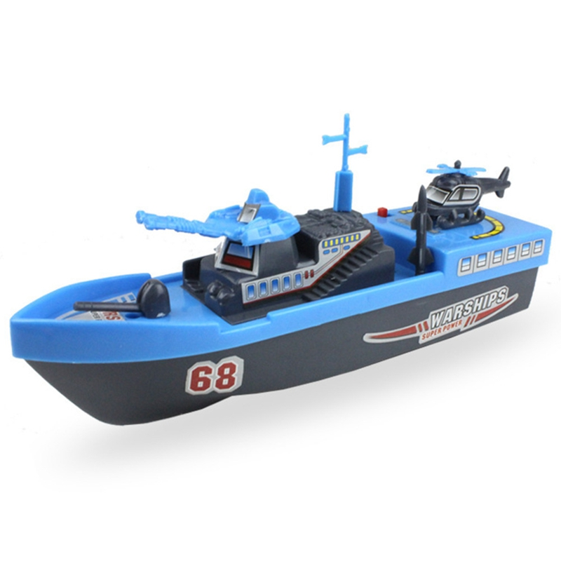 Plastic Electric Swimming Water Toys Ship Boat Summer Bath Educational Toys Outdoor Spraying Water Tool For Baby Kids Children