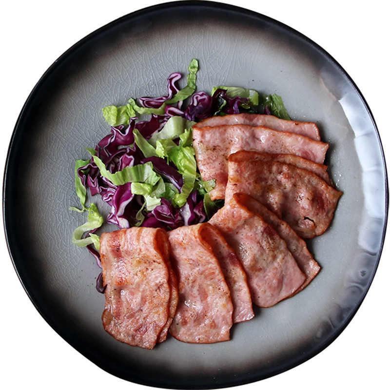 Gaya Jepang Steak Piring Keramik Set Hidangan Teh Kreatif Mangkuk Sup 7 9 10 Inch Peralatan Makan
