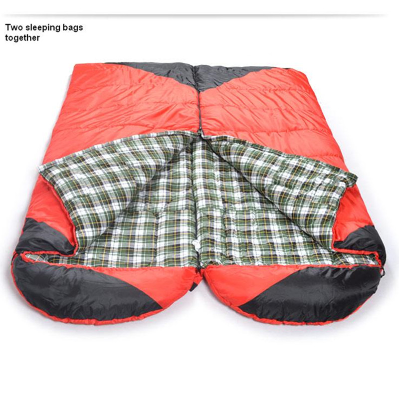 ФОТО Sleeping bag Winter cotton outdoor camping adult sleeping bags with cap