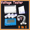 150W 3 in 1 RC 2s-6s Lipo Li-Fe Battery Balancer LCD+Voltage Meter Tester+Discharger +free shipping