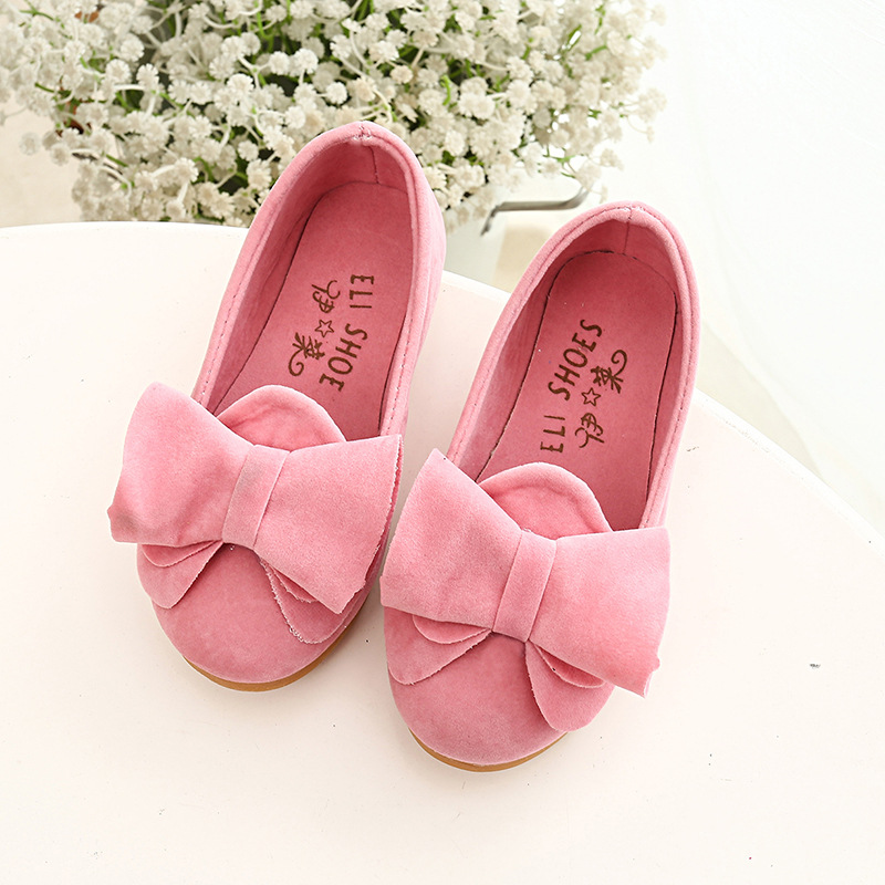70935e9434e07 Mode Filles Chaussures Printemps Été Enfants Chaussures Simples Princesse  Arc-noeud Bowtie Bonbons Couleur Enfants Casual Sneakers 2-12Y