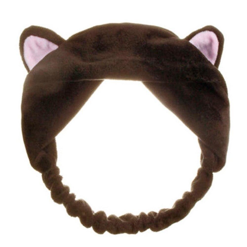 Frauen Ohren Werkzeuge Elastische Haar Stirnbänder Party Make-Up-Party Haarband Zubehör Gesicht Waschen Kopfschmuck Nette Katze Leben Frauen