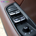 7 Unids/set ABS Cromo Styling Car Interior Puerta Elevalunas Interruptor de La Tapa decoración Para AUDI Q5 Q3 A1 A3 8 V A4 B8 A6 C7