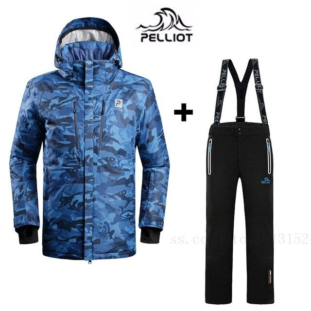 bd9253f97128 Pelliot men Ski jacket + Ski pants Winter Ski Clothing Quality ...