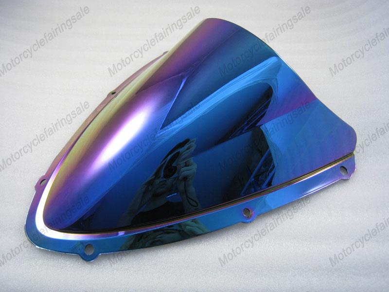 Suzuki GSXR 600/750 K8 2008 2009 08 09 Double Bubble Windshield Motorcycle Part Windscreen Light iridium Magic color - MFS MOTOR store