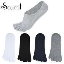 Short Finger-Toe High-Quality Inserts Women's Boat Spring Soumit Cotton Socks Gift 4-Pairs/Set
