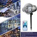 Новая снежинка прожекторная лампа мини наружная Водонепроницаемая светодиодная Лазерная лампа ночник для рождественских праздников деко...