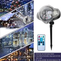 NEW Snowflake Projector Lamp Mini Outdoor Waterproof LED Laser Lamp Night Light for Christmas Festival Supplies Decoration Lamp
