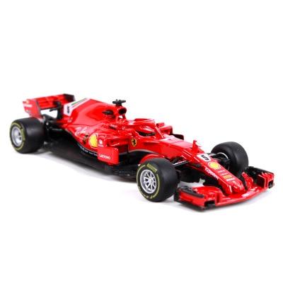 Burago 1:43 Sports Car F1 Team S.Vettel K.Raikkonen Collector Edition Metal Diecast Model Car Kids Toys Gift