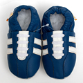 Bebê sapatos de couro genuíno mocassins casuais sapatos de bebê azul chinelos menino criança não - deslizamento primeiro Walkers crianças sapatos calçados
