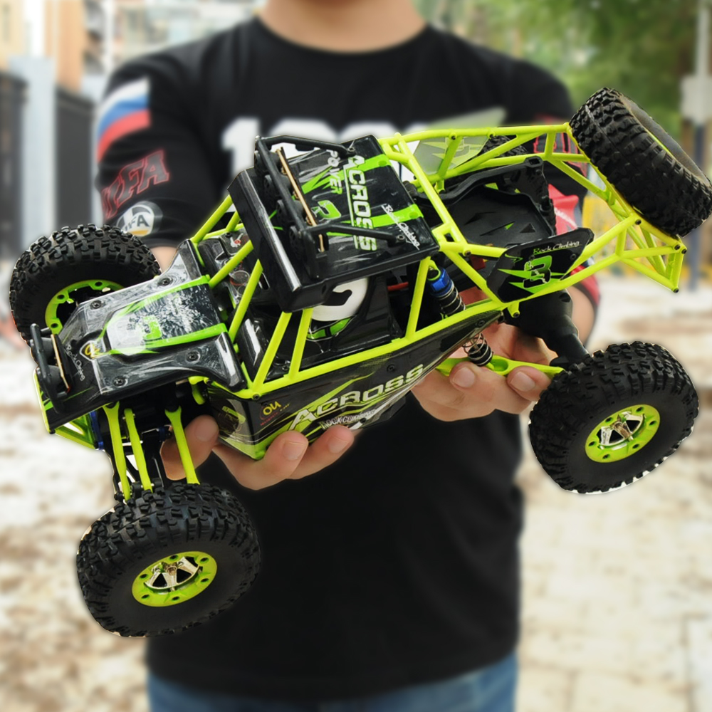 GizmoVine Wltoys 12428 Rc Car 1:12 2.4G 50km/h 4WD High Speed Remote Control Car Truck Radio Controlled Machine+1500mAh Battery wltoys 12428 12423 1 12 rc car spare parts 12428 0091 12428 0133 front rear diff gear differential gear complete