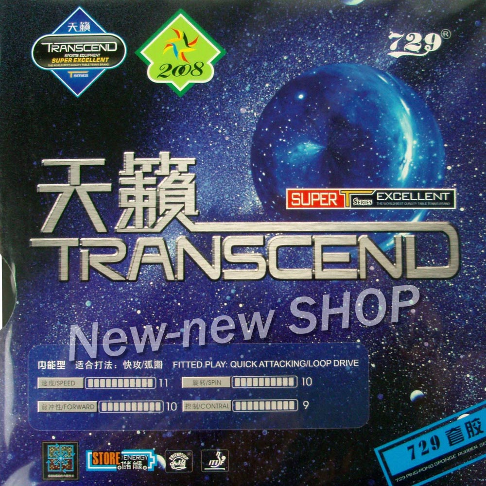 729 TRANSCEND-729 Pips-In Table Tennis PingPong Rubber With Sponge