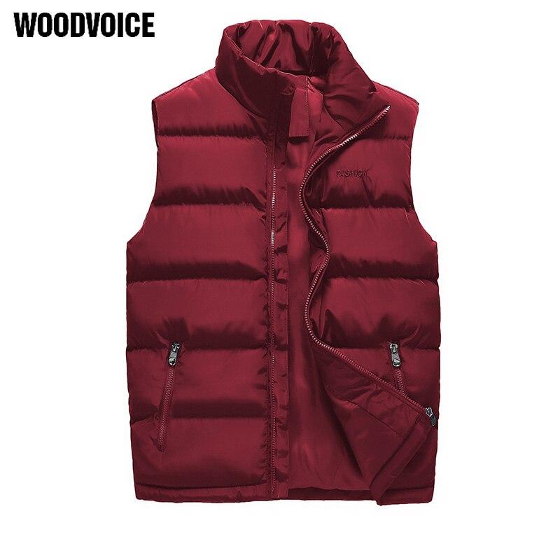 Woodvoice Brand Clothing Men's Autumn Winter Jacket Waistcoat Male Sleeveless Waterproof Coat Overcoat Thicken Warm Vests WQ28