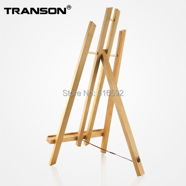 Transon 50cm Artist laptop beech wooden Easel, mini wood easel for diaplay, table top easel for painting, art supplies