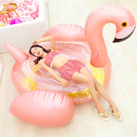 Giant Inflatable Flamingo Float Tube Adults Children Swimming Pool Ride on Swimming Ring Water Toys High Quality Thick