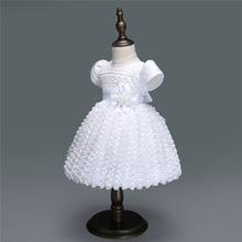 Flower Baby Girl Dress 1 Year Birthday Newborn Party Dresses Infant Wedding Dress Newborn Christening Gowns