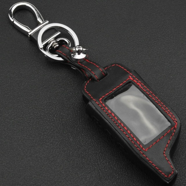 jingyuqin 3 Buttons Leather Car-Styling Key Cover Case For Starline B9 B6 A91 A61 Twage Two Way Car Alarm System keychain
