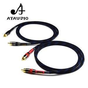 Image 2 - ATAUDIO Hifi Cinch kabel Hochwertige 4N OFC HIFI RCA STECKER auf Stecker Audio Kabel