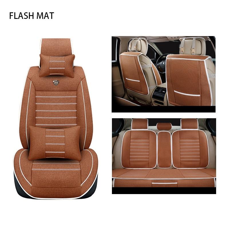 цена на flax car sear covers for audi a3 8p a1 a3 a4 a4l a5 a6 a6l a7 a8 8p 8v a4 b6 b7 b8 a6 c5 c6 c7 q5 q7 tt Auto accessories